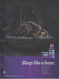 3 Zzzquil Source Ebony August 2015 43 Print Advertising Print Ads Bear