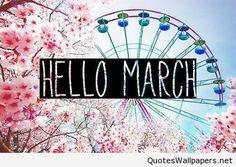 Cute Photo Hello March Wallpaper 2016