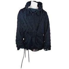 92cdfd39f2bda Jeremy Scott x ADIDAS Original Black Fringed Hoodie from SS 2010 Sz L