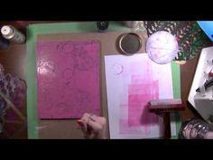 Art Geeks: The Artistic Pagan's Playground: Recess #2: Gelli Plate Printing Pt 2