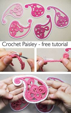 Learn how to crochet Paisley. Learn how to crochet Paisley. Crochet Paisley, Irish Crochet Patterns, Freeform Crochet, Crochet Designs, Crochet Stitches, Knitting Patterns, Irish Crochet Tutorial, Crochet Flowers, Irish Crochet Charts