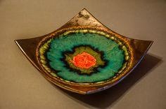 ceramic plate, handmade, oldschool