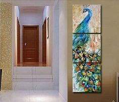 3 pieces wall art Peacock painting wall art print painting Home decoration pictures print on canvas framed art from TroyGift. Saved to Art. Framed Art, Peacock Painting, Wall Art Prints, 3 Piece Wall Art, Print Pictures, Canvas Frame, Painting, Canvas Wall Art Set, Abstract Canvas Art