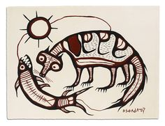 Norval_Morrisseau_Fox_And_Fish_Theme_1073_399.jpg (1000×767)