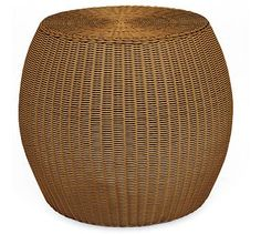 Palmetto All-Weather Wicker Accent Table - Honey #potterybarn 20D x 17.5 H  - these would be a cute coffee table/stool alternative on sale for 104