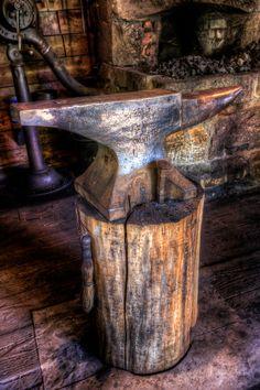 Anvil in the Blacksmith Shop at Sagamore in the Adirondacks