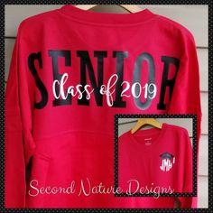 Long Sleeve High School Senior 2019 Jersey Shirt / College | Etsy Senior Class Shirts, Graduation Shirts, High School Graduation, High School Senior Year, High School Cheerleading, High School Seniors, Senior Crafts, Crafts For Seniors, School Spirit Shirts