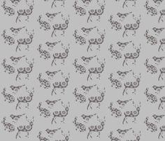 Woodland doily animals fabric by katarina on Spoonflower - custom fabric