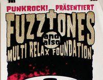The Fuzztones - Screenprinted Gigposter by Götzilla Rockposter, via Behance