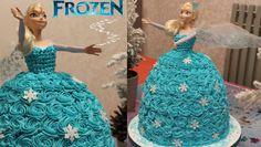Elsa die Eiskönigin Torte aus Sahne selber machen Anleitung Deutsch