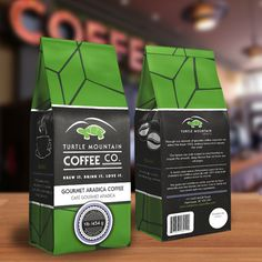 Turtle Mountain Coffee Packaging on Behance #design #packagedesign #graphicdesign #branding
