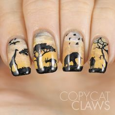 Sunday Stamping - Wildlife Nail Art