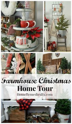 Trees and pine cones and poinsettias, oh my! Tour @homeremediesrx's Christmas-ready home.