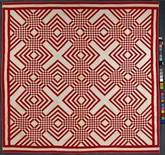 Carpenter's Square Quilt  Artist unidentified, USA 1880 - 1900