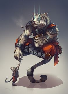 Noisy Pics — Monk by Konstantin Porubov Arte Furry, Furry Art, Character Concept, Character Art, Concept Art, Fantasy Artwork, Dnd Characters, Fantasy Characters, Fantasy Creatures