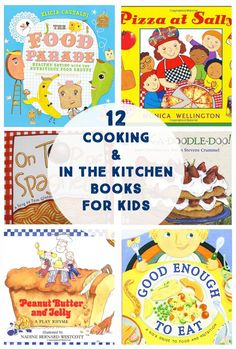Cooking & In the Kitchen Books for Kids - Great list of books to learn about cooking and being in the kitchen for kids!