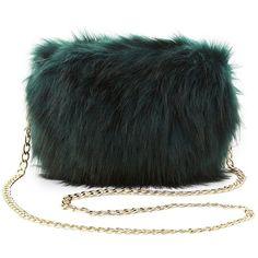 Charlotte Russe Faux Fur Crossbody Bag (355 MXN) ❤ liked on Polyvore featuring bags, handbags, shoulder bags, emerald, crossbody purses, zipper purse, shoulder strap bags, multi color purse and crossbody shoulder bag
