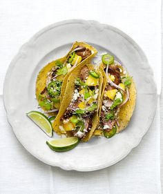 Up to four hours of marinating time requires a little forethought, but the flavor payoff is big, bold, and delicious. Thinly sliced jalapeno and diced red onion cut through the sweetness, while crumbled cotija cheese adds a hint of salt.