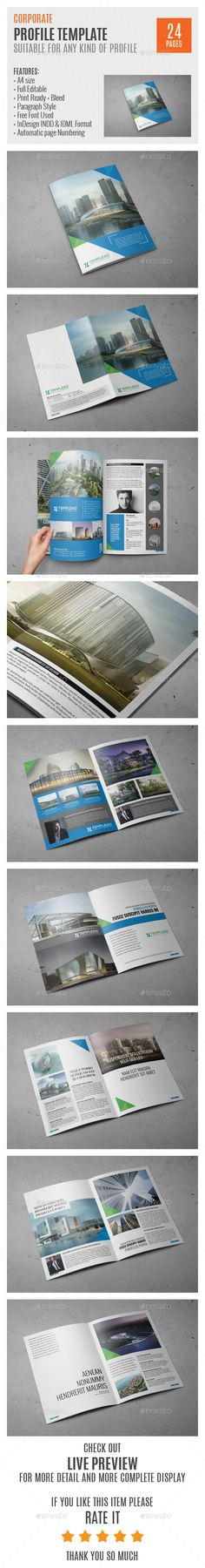 InDesign Modern Business Brochure Template Business brochure - corporate profile template