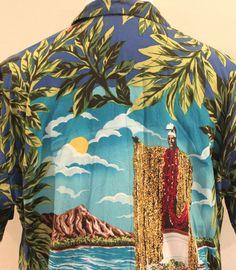 Men's XL Kalaheo King Kamehameha Aloha Hawaiian Shirt Made In Hawaii #Kalaheo #Hawaiian
