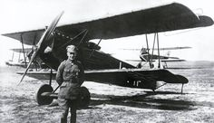 Ernst Udet with his Fokker D.VII