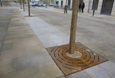 Blueton Limited - The new name in street furniture - Corten Steel Tree Grilles, #landscape architecture, #street furniture, #tree grill, #site furnishings