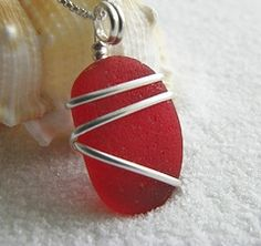 wire wrapping sea glass jewelry
