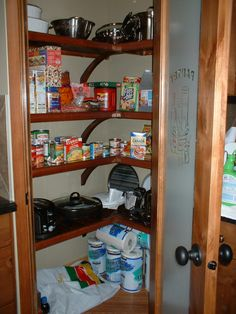 Red Mahogany John Louis Home Closet Solid Wood Shelving Design In L Shaped  Kitchen Pantry