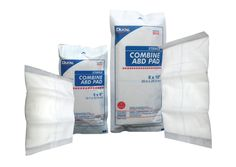 The DUKAL Combine ABD Pad is a highly absorbent dressing that provides padding and protection for large wounds. The quick wicking pad with moisture resistant barrier offers superior performance.