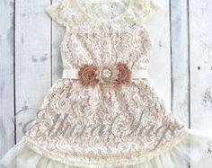 Lace Flower Girl dress Flower Girl Dresses by PoshPeanutKids