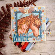 Copic Italia: Un card per un piccola amante di cavalli Whimsy Stamps, Marianne Design, Copics, Paper Crafting, Inktober, Art, Italia, Paper Engineering, Art Background