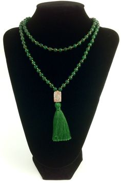 Protection Mala - Jade Mala, Jade Prayer Beads, Jade Meditation Beads
