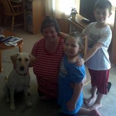 Cookie with her new family! 5-6-12