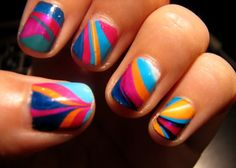 water marbling nail polish tutorial - Grated Expectations