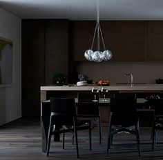 desire to inspire - desiretoinspire.net  dark kitchen by Lombard and Jack