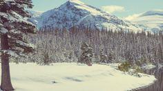 Glacier National Park in winter, Montana, USA
