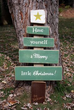 Have Yourself A Merry Little Christmas! Rustic Wood Christmas Tree Sign - http://signsbyandrea.com #Christmas #scrapwood #customsign #woodsign #chrismastree