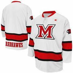 Miami University RedHawks Face Off Hockey Jersey - White--I ll always call fc52615a43b