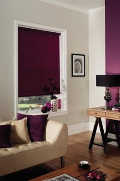Black Out Blind in Purple