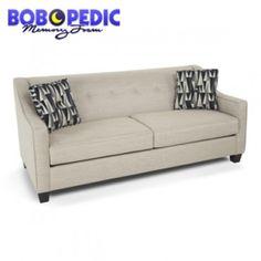 "Bob's Furniture - 80"" Colby Sofa, Bob-o-pedic memory foam"