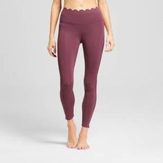 Fitness gurus and fashion enthusiasts alike will love the comfort and style these Premium Lightweight High-Rise Scalloped Leggings from JoyLab™ have to offer. A premium fabric made up of body-sculpting nylon gives these leggings a breathable, soft and smooth feel — perfect for getting through any activity with ease. You'll love showing a hint of your feminine style with the scallop detailing along the waistband and ankles, and the cropped silhouette lets you show off yo...