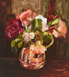 Work by Southern Highlands artist Laura Jones - Roses in copper jug oil on linen, 40 x 36 cm Country Style Magazine, Acrylic Painting Flowers, Flower Paintings, Still Life Flowers, Stunning Photography, Australian Artists, Texture Painting, Beautiful Paintings, Art Images