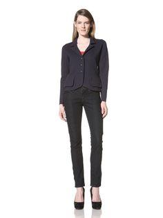 52% OFF Magaschoni Women\'s Long Sleeve Jacket (Navy)
