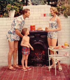 Summer Fun - Hot Dog! Love the matching swimwear!