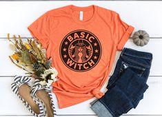 Basic Witch Shirt, Witch Shirt, Halloween Shirt, Salem Shirt, Starbucks Halloween, Hocus Pocus Shirt, Sanderson Sister Shirt, Fall Shirt  #basicwitch #halloweenshirt #hocuspocus #starbuckscoffee Starbucks T Shirt, Starbucks Halloween, Halloween Shirt, Fall Shirts, Cool T Shirts, Button Up Shirts, College Must Haves, Bridesmaid Tanks, Hocus Pocus Shirt