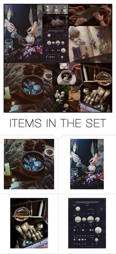 """""""Chasing her spark in the night."""" by wishbones ❤ liked on Polyvore featuring art, Dark, witch and apothecary"""
