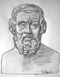 Homer pencil drawing