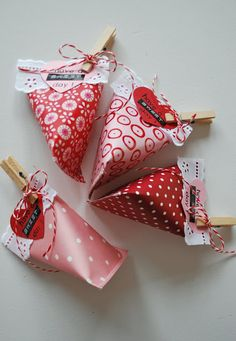 mamas kram: Werken mit Papier / Basteln (Valentins Day Sweets Treats)