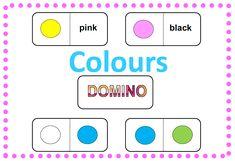 Domino - barvy  2 varianty, obrázek + text, obrázek + obrázek English, Colours, Pink, Dominatrix, English Language, Roses