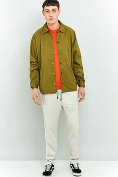 TM London Olive Coach Jacket | Men | Coats & Jackets | Harringtons & Coach Jackets | Urban Outfitters | New In